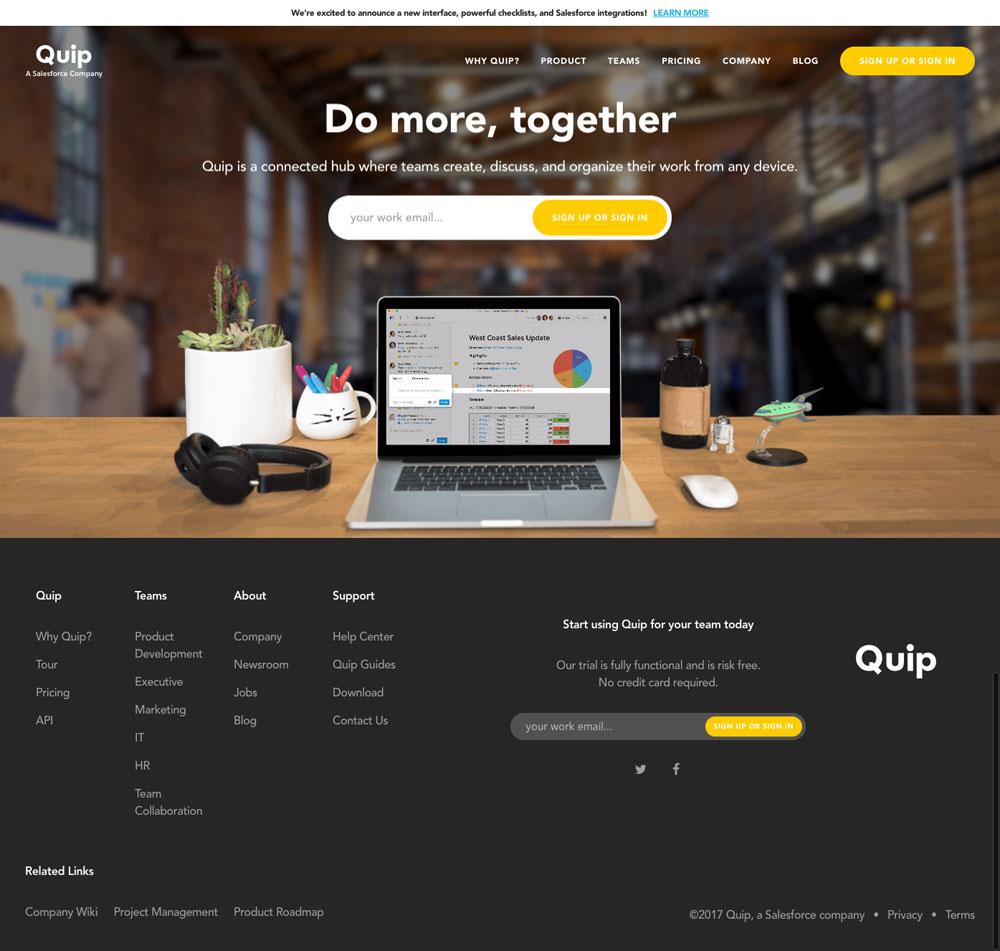 Quip Website Design