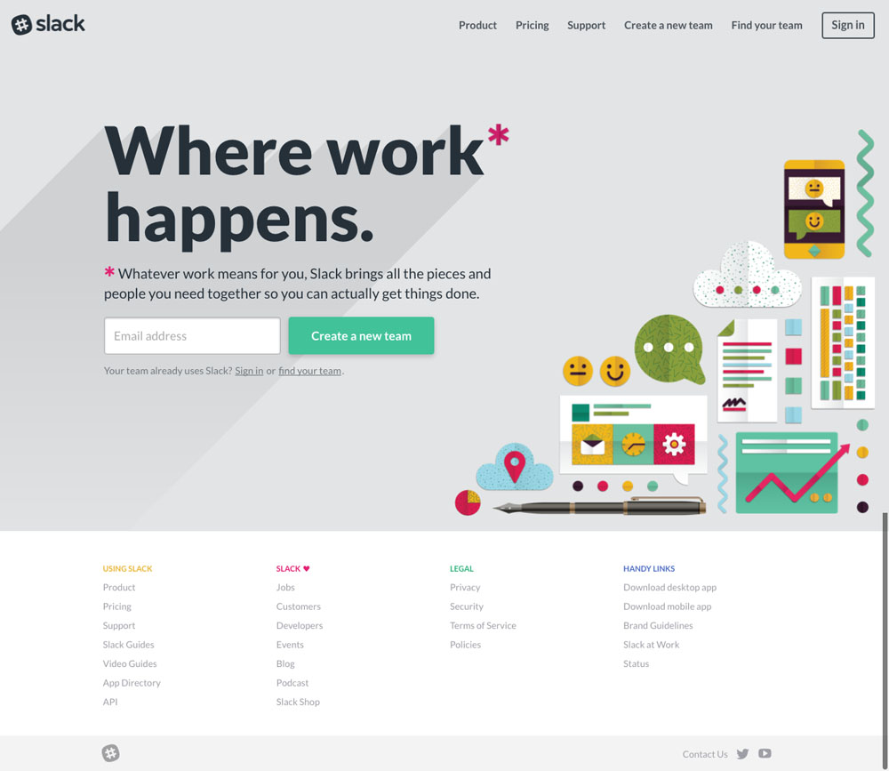 Slack (2017) Website Design