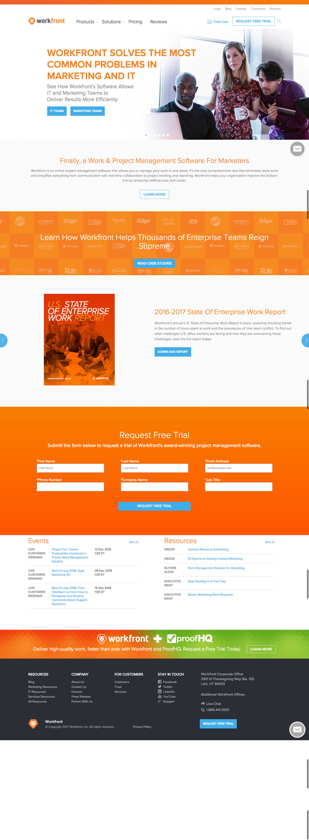 WorkFront Website Design