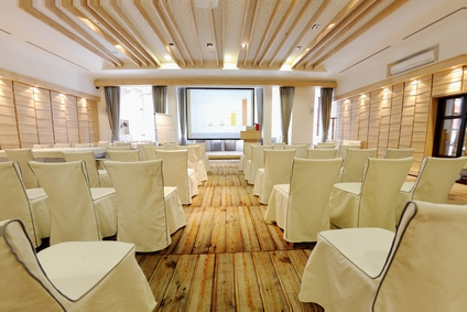 Live event preparation - an empty business conference room interior