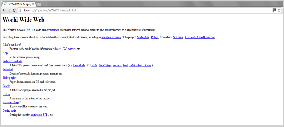 Early-web-page