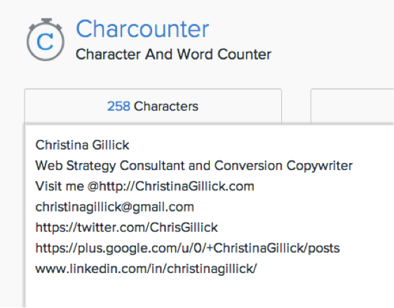 Email-Signature-Character-Count