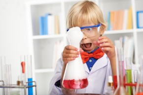 young scientist doing an experiment