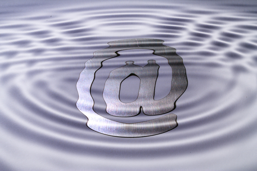 A web symbol under water symbolizing misty ways on the www.