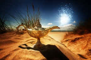 Magic lamp in the desert - Boost Your Luck