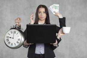 Businesswoman Is Multitasking