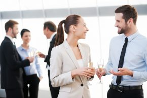 Networking at a small group event