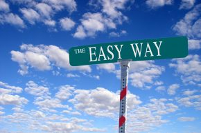 Street Sign Against a Blue Sky: The Easy Way
