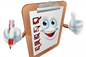 Clipboard Character with Check List - Get Ready to Land Clients
