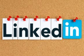 LinkedIn on a Corkboard
