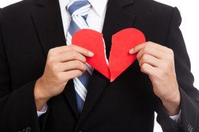 Broken Heart Asian Businessman