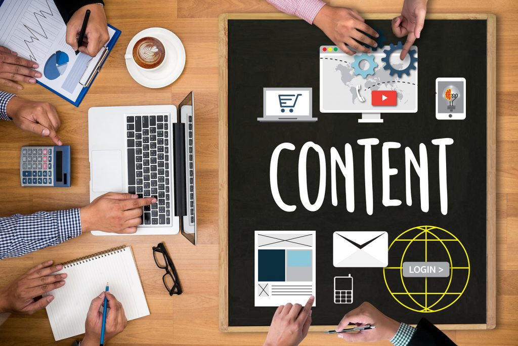 Content Marketing, Online Concept , Content Data Blogging Media