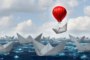 A paper boat with an advantage