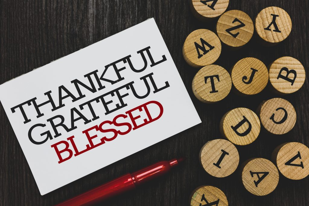 Text Sign Showing Thankful Grateful Blessed. Conceptual Photo Ap
