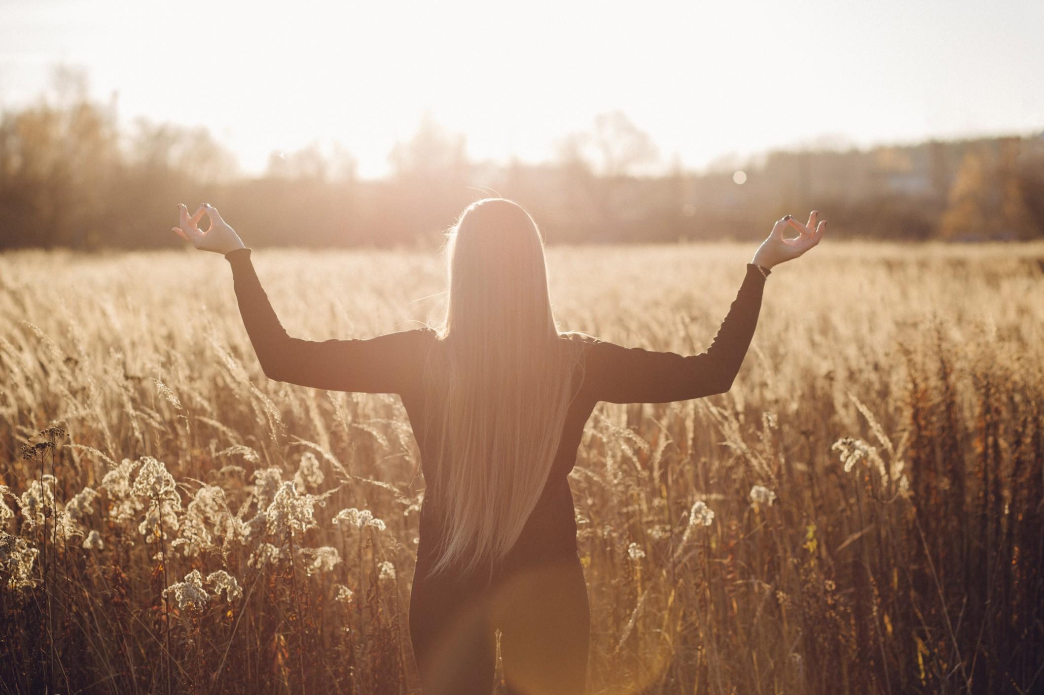 A woman soaking up the sun