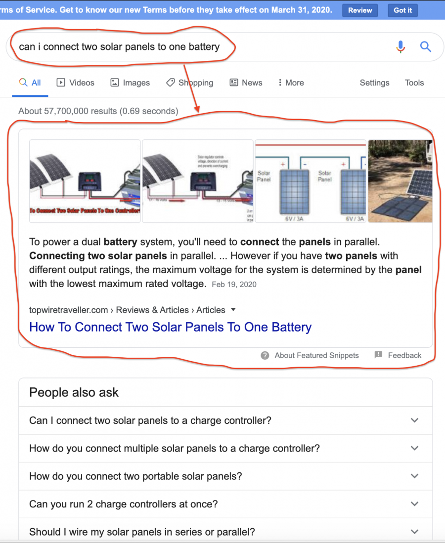 Solar Article Featured Snippet