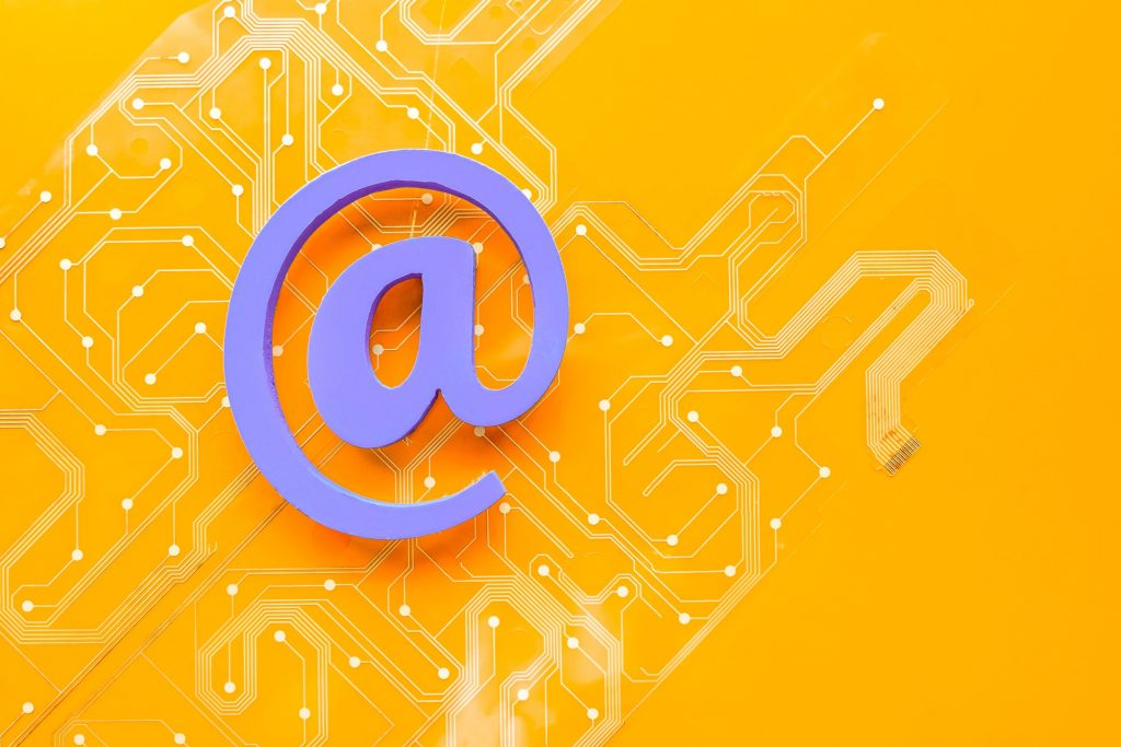 Email Symbol on an Orange Background