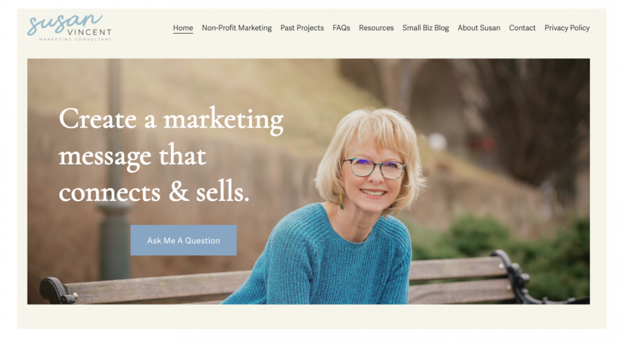 Website targeting small business clients - Example