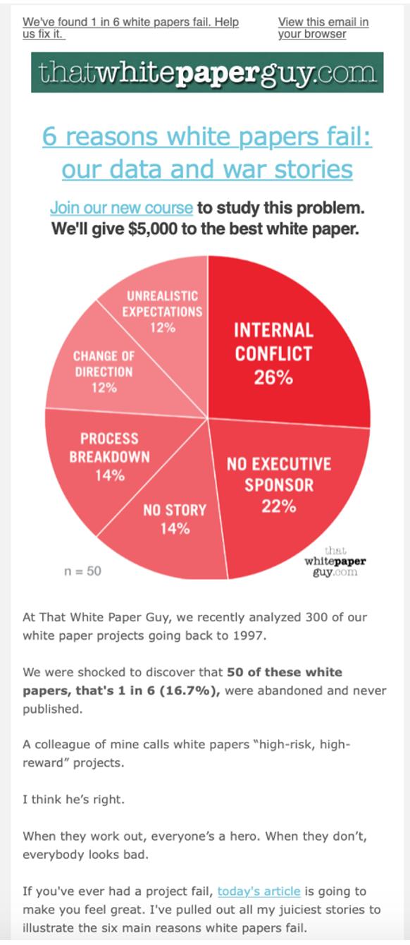 White Paper Guy Newsletter Sample