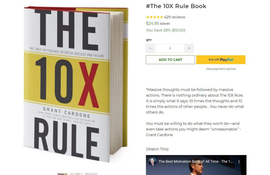 Sample product description - The 10X Rule