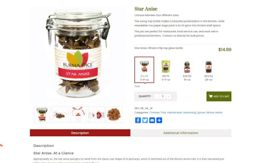 Sample Product Description - Spice