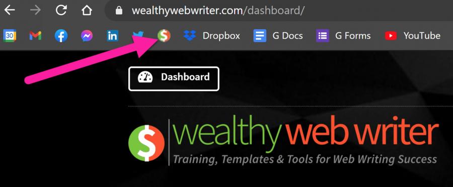 Wealthy Web Writer Favicon Example