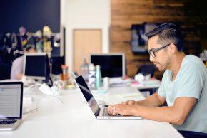 Man at his laptop