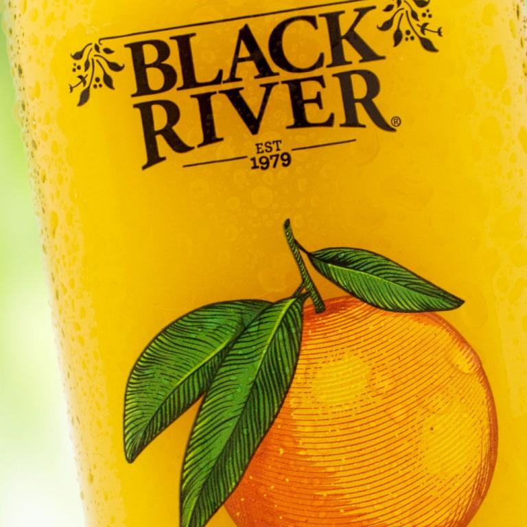 Black River Juice Brand Refresh and Juice Bottles Label Design