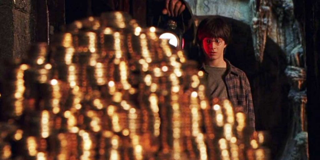Harry Potter with his money