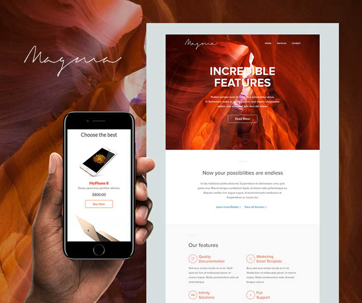 Magma email template