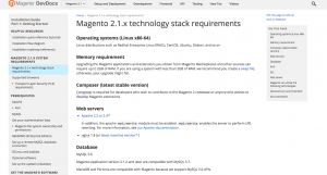 Magento 2 technical requirements