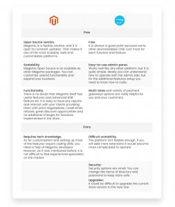 Magento vs. OpenCart: Pros and Cons