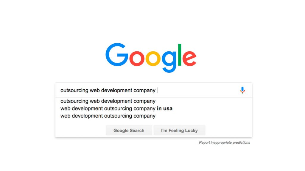 where to outsource web development Google