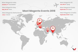 Map of the Meet Magento events