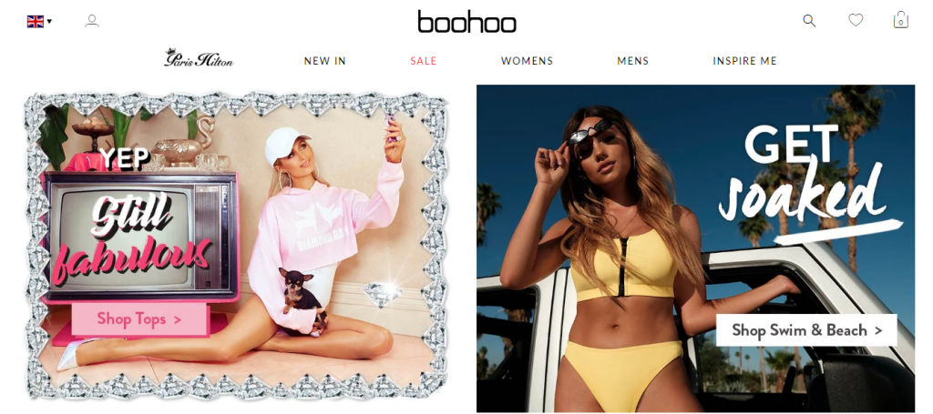 Collections on Boohoo