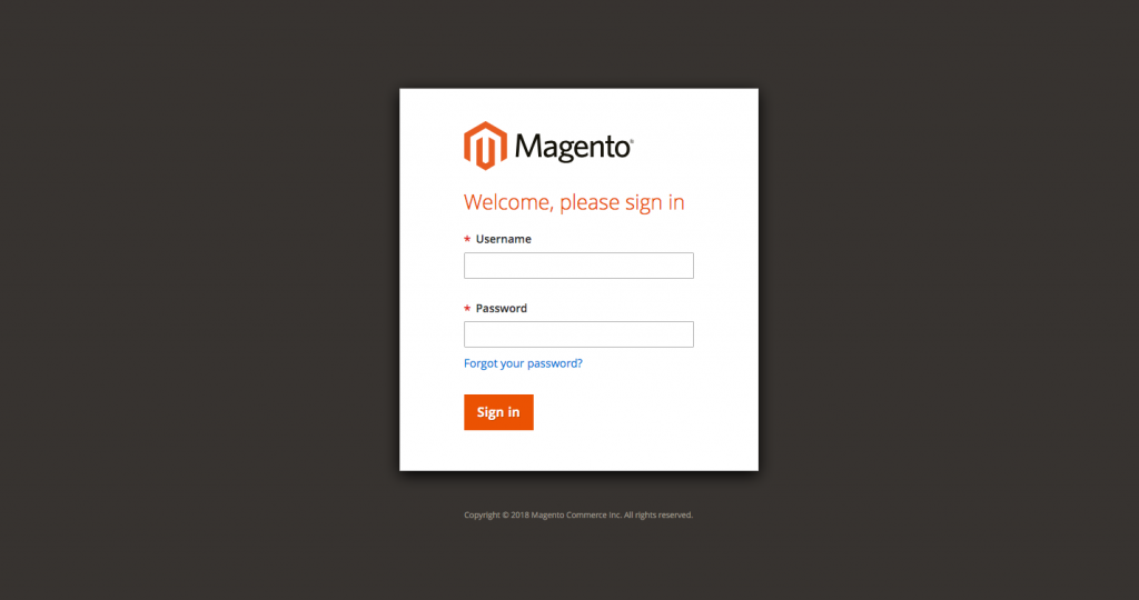 Log in To the Magento 2 Admin Panel