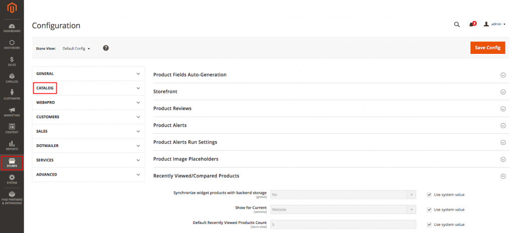 Magento Catalog Search Section