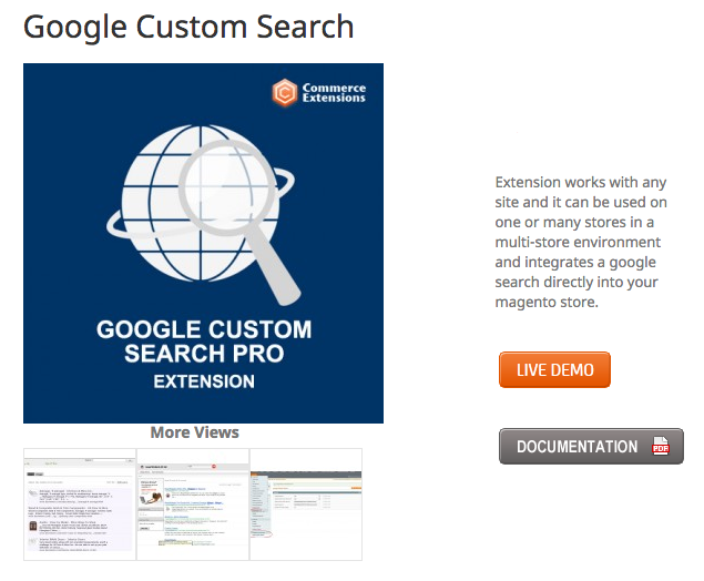 Google Custom Search Pro by CommerceExtensions