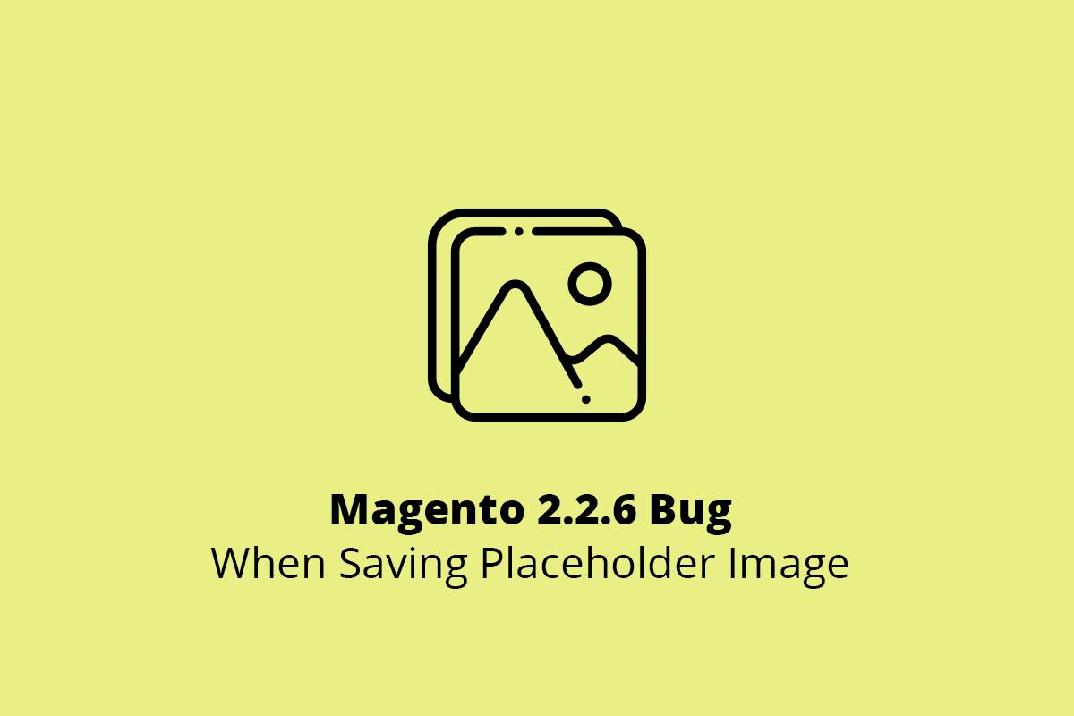 Magento 2.2.6 Bug When Saving Placeholder Image
