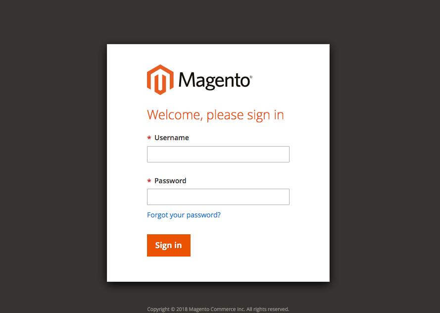 Magento Backend Admin Panel