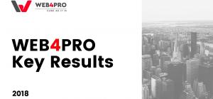 WEB4PRO Key Results of 2018