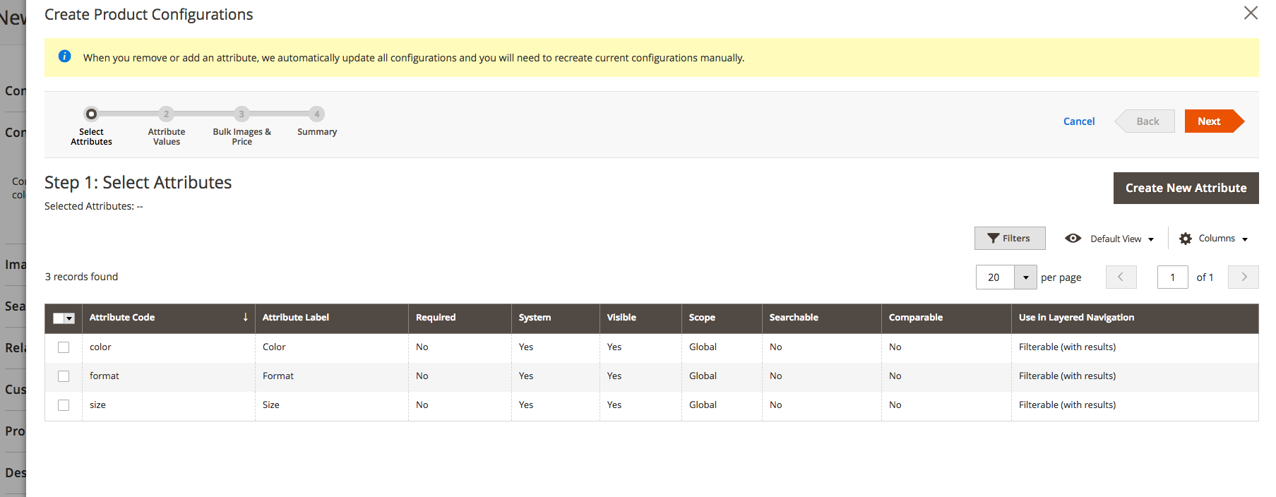 Create Product Configurations
