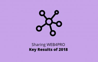 Sharing WEB4PRO Key Results of 2018