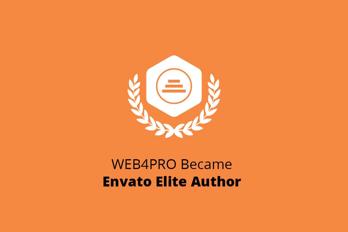 WEB4PRO Became Envato Elite Author