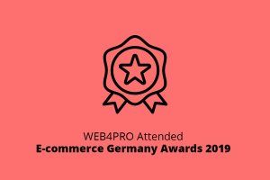 WEB4PRO Attended E-commerce Germany Awards 2019