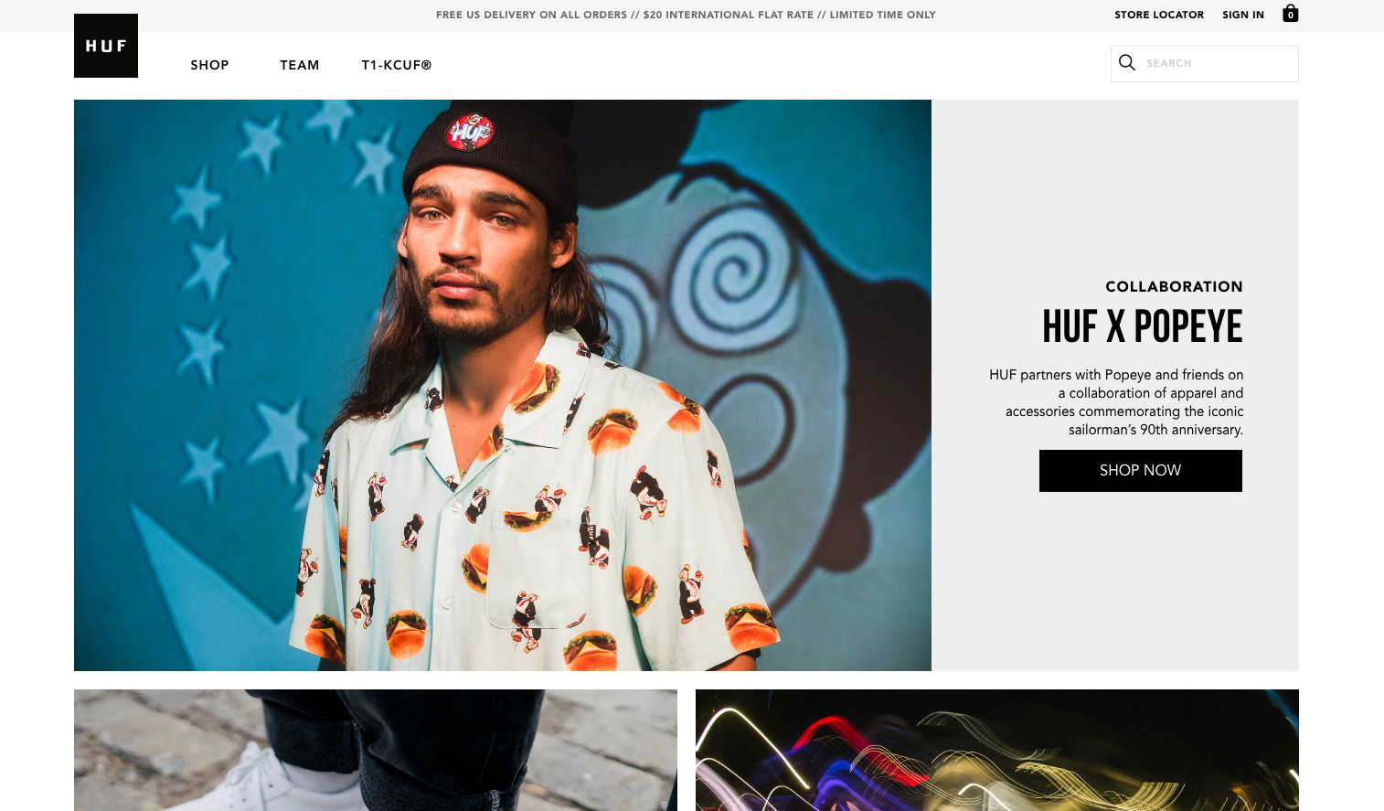 HUF Store - Home Page