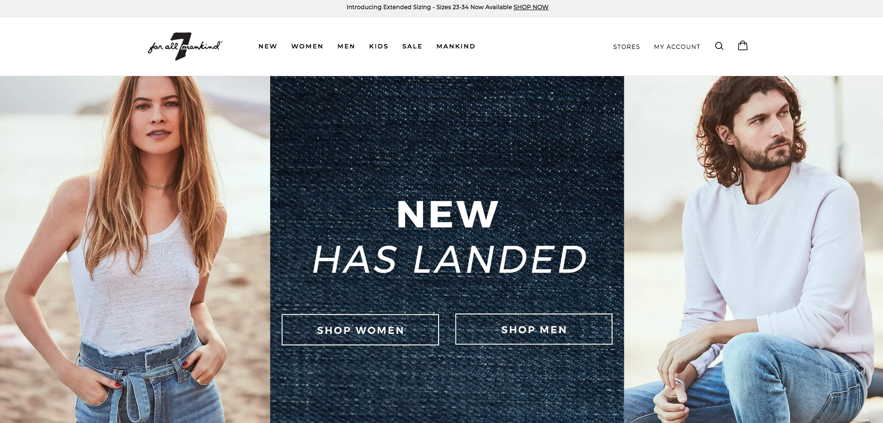 7 For All Mankind Home Page