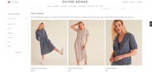 Oliver Bonas Product Listing Page