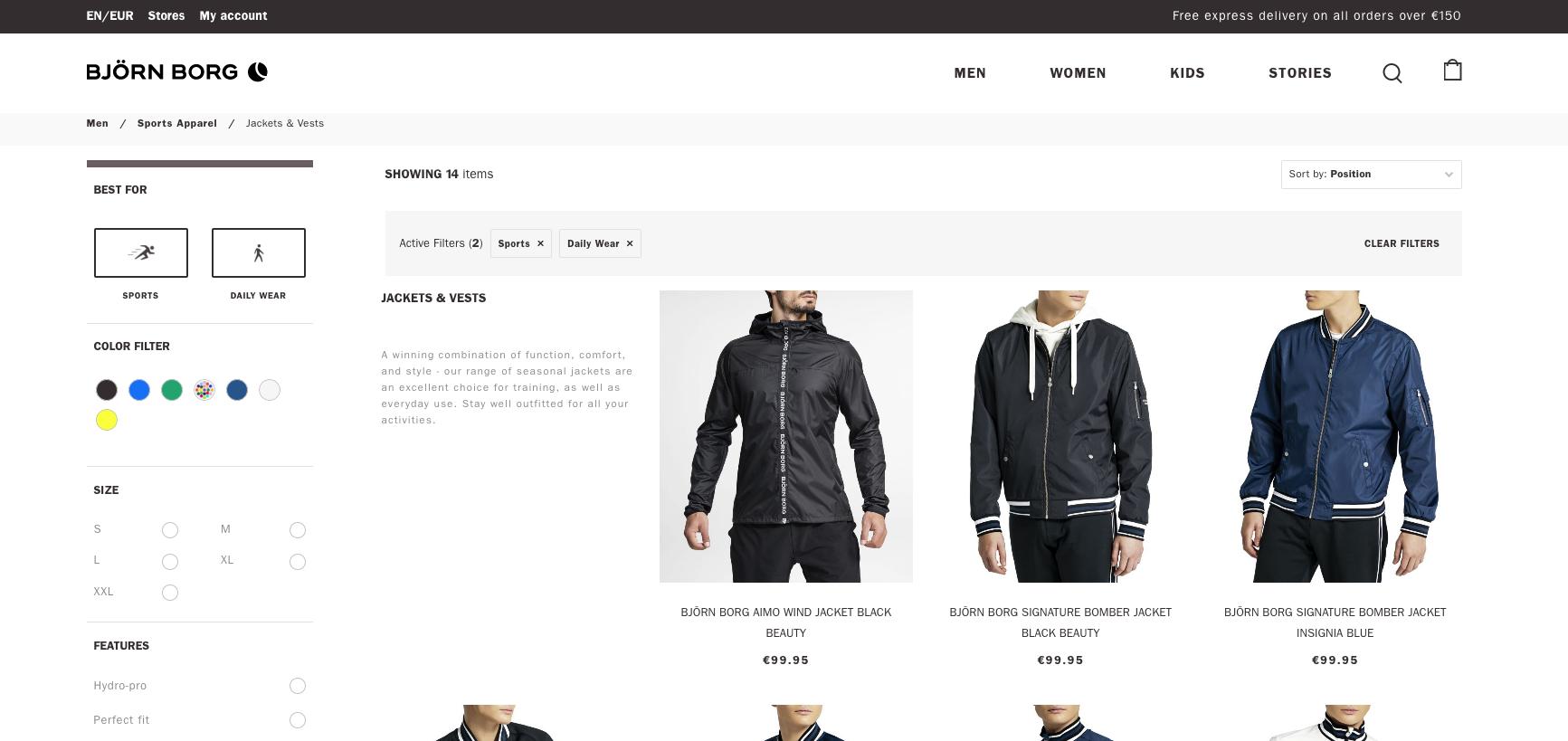 Björn Borg Product Listing