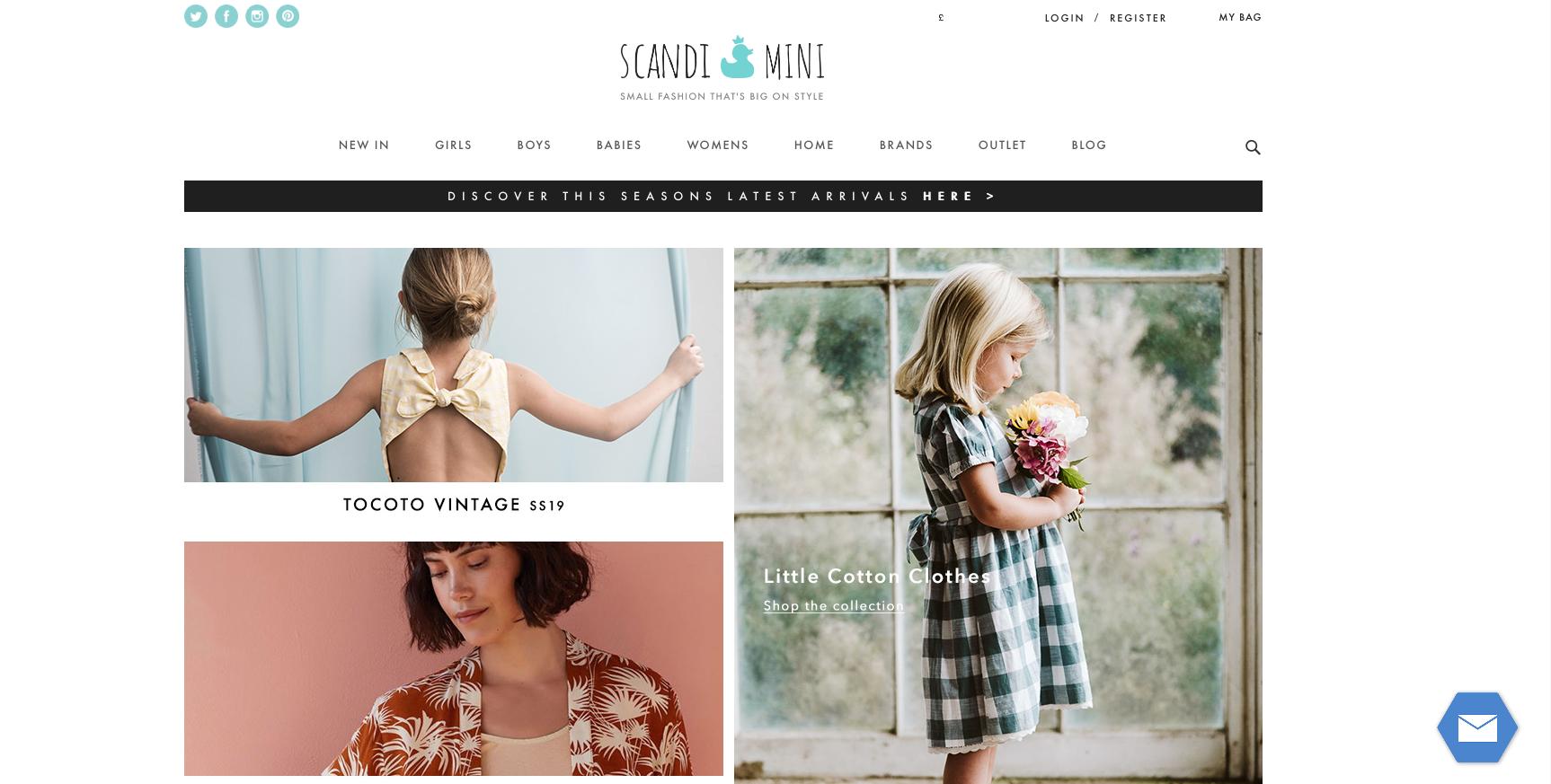 Scandi Mini Homepage